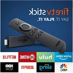 Fire TV Stick streaming media player with Alexa built in, in