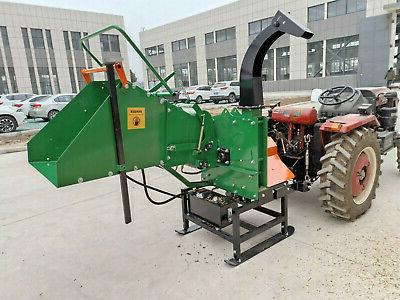 """New 8"""" Commercial WC8H PTO Drive Wood Chipper Feed"""