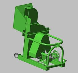 Manual Feed PTO Driven Wood Chipper Plans